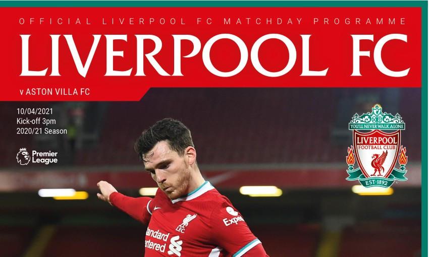 Liverpool v Aston Villa matchday programme