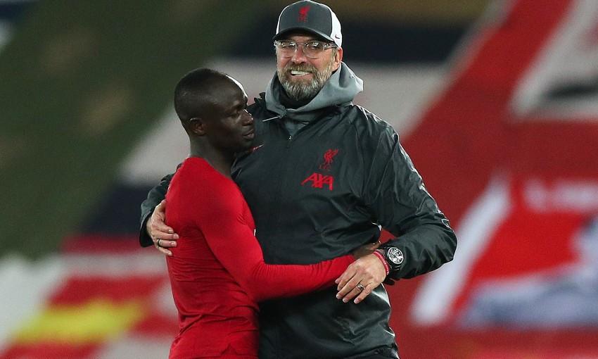 Jürgen Klopp and Sadio Mane of Liverpool FC