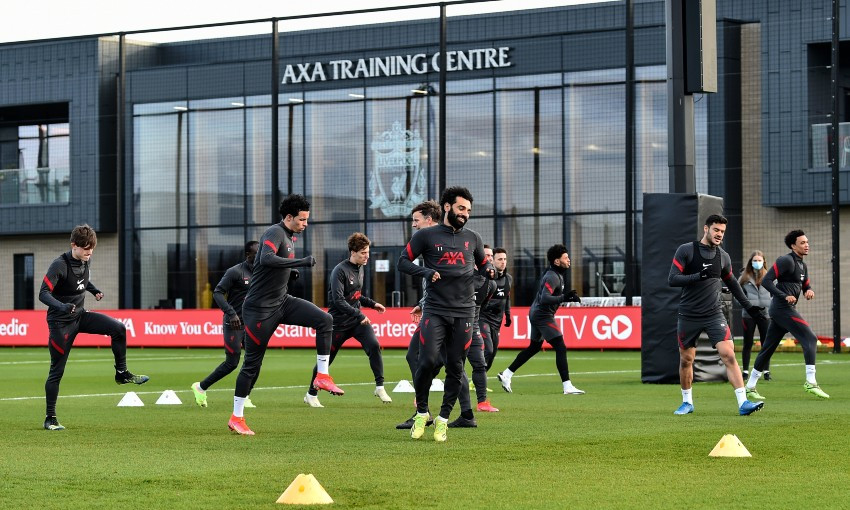 Liverpool FC training session at AXA Training Centre