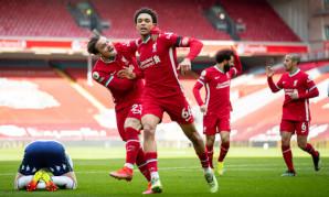 Alexander-Arnold's stoppage-time goal seals comeback win over Villa