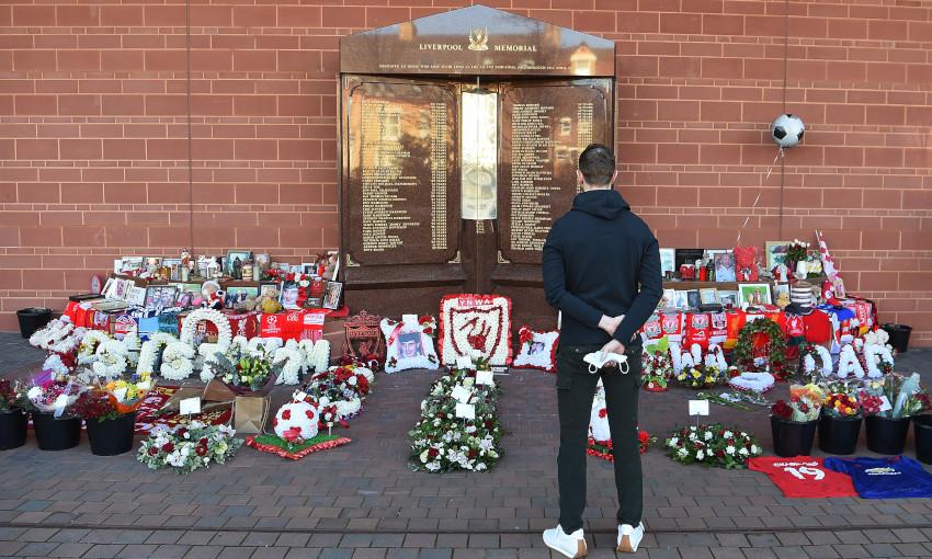 Hillsborough memorial at Anfield - 15/4/2021