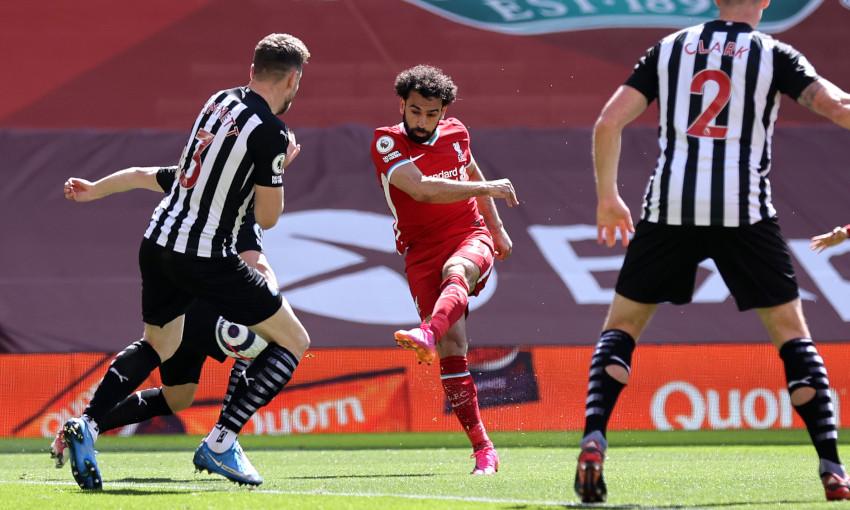 Mohamed Salah scores against Newcastle United