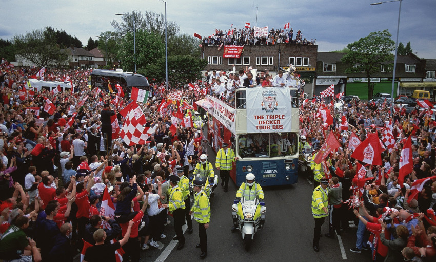 Liverpool's 2000-01 trophy parade - 20/5/2001