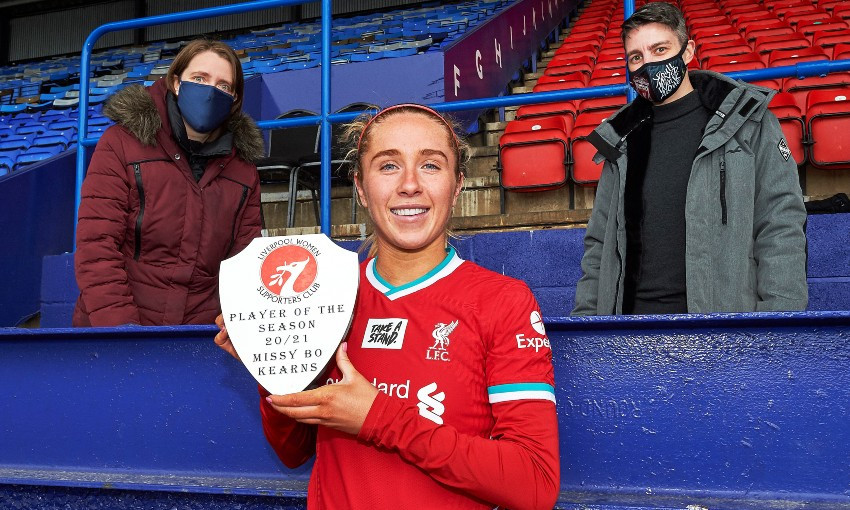 Missy Bo Kearns named Liverpool FC Women fans' player of the year