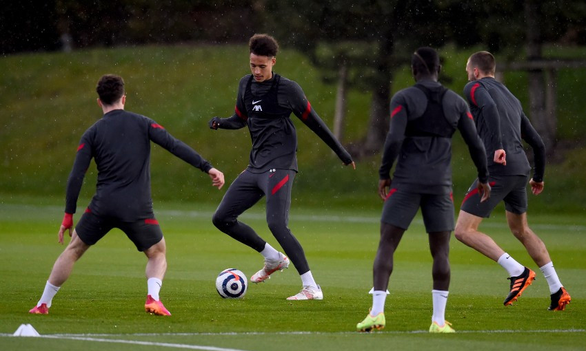 Rhys Williams during Liverpool FC training session