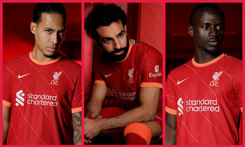 Liverpool FC Nike home kit for 2021-22 season