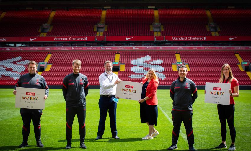 LFC Foundation welcomes Employment Minister to Anfield to meet Kickstart recruits