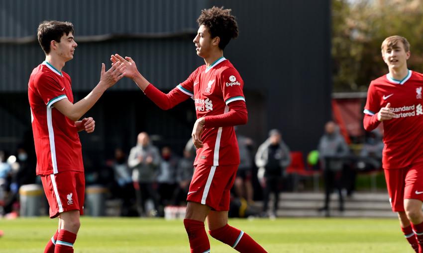 Liverpool U18s celebrate