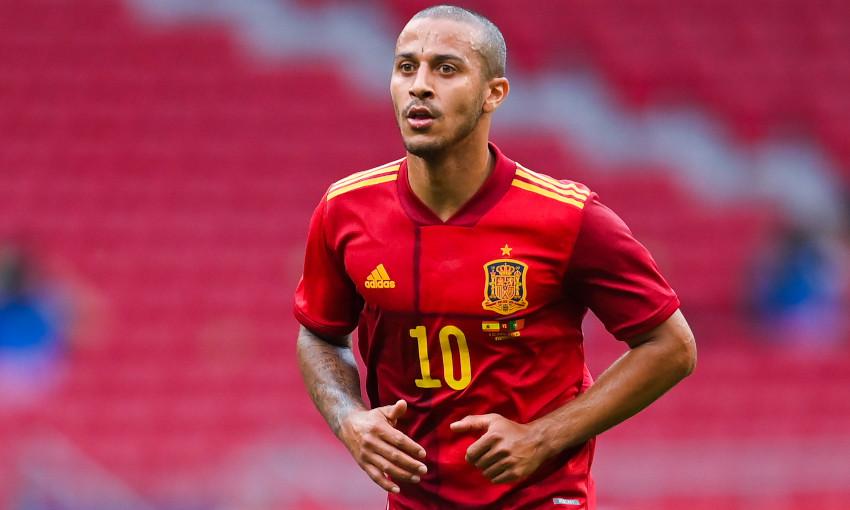 Thiago Alcantara in action for Spain