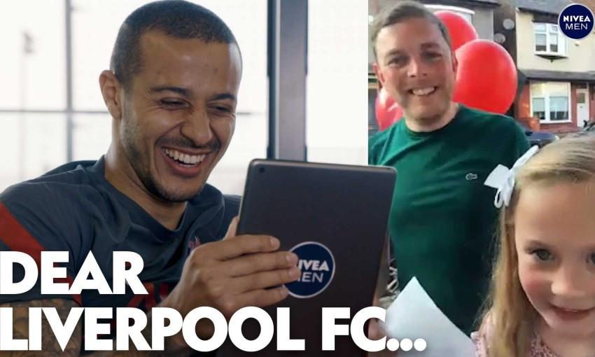 Thiago Alcantara Dear Liverpool with NIVEA MEN