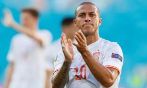 Thiago Alcantara in action for Spain at Euro 2020
