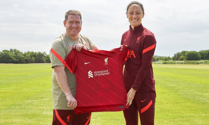 Megan Campbell of Liverpool FC Women