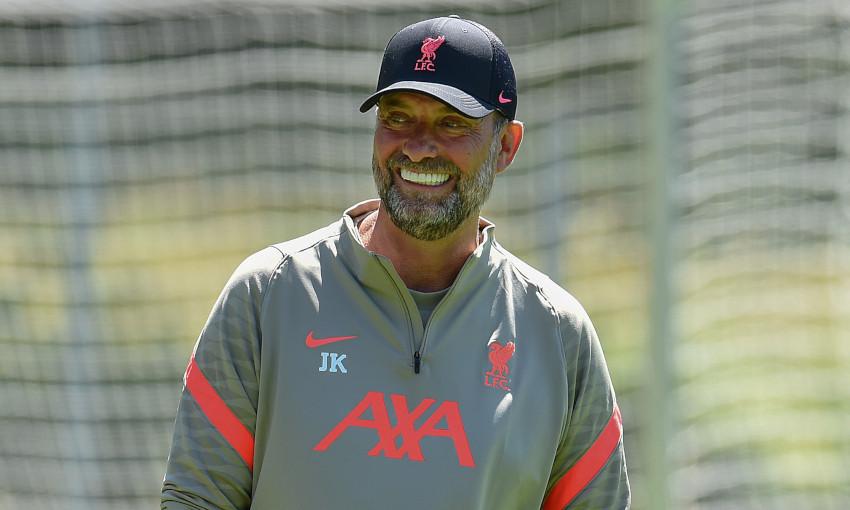 Jürgen Klopp at Liverpool's pre-season training camp in Austria