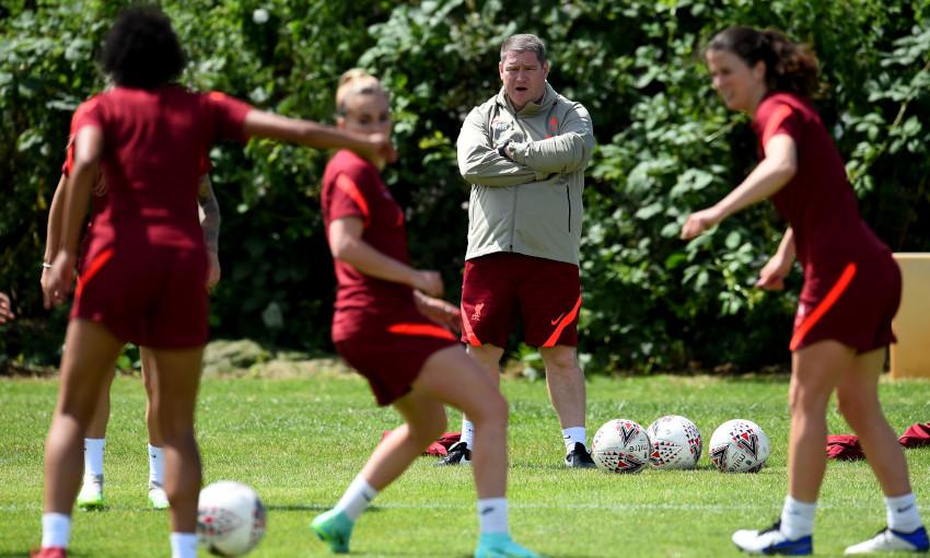 Matt Beard at Liverpool FC Women training