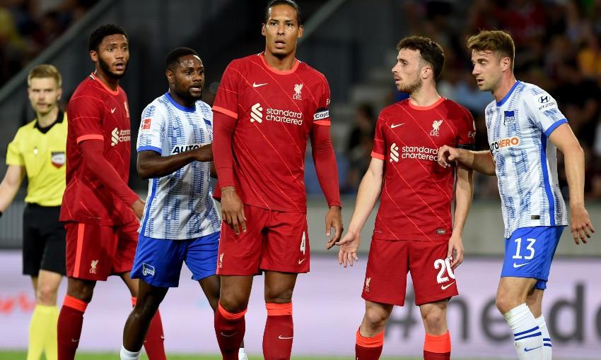 Virgil van Dijk during Liverpool v Hertha BSC