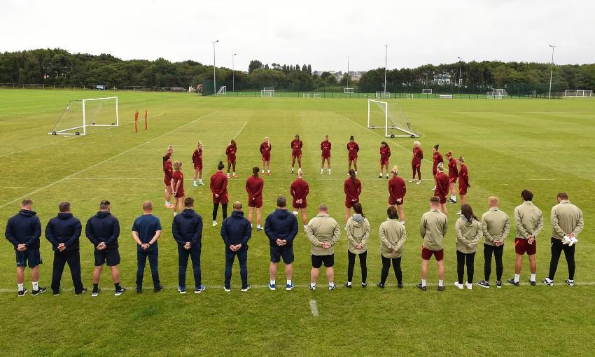 Liverpool FC Women tribute to Andrew Devine