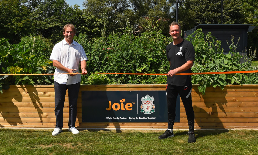 Liverpool FC and Joie create new Academy family garden