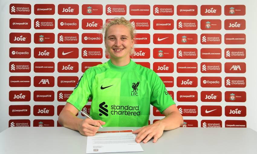 Katie Startup of Liverpool FC Women