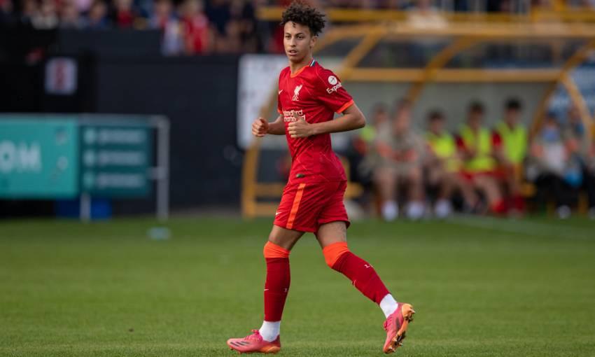Kaide Gordon of Liverpool FC
