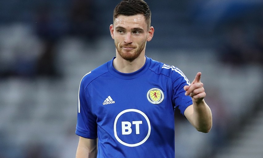 Andy Robertson of Liverpool FC and Scotland