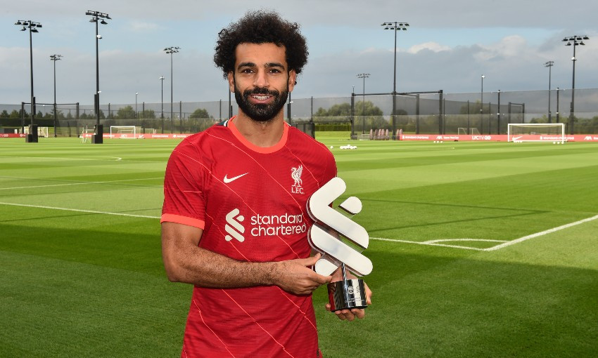 Mohamed Salah wins Liverpool August Player of the Month award