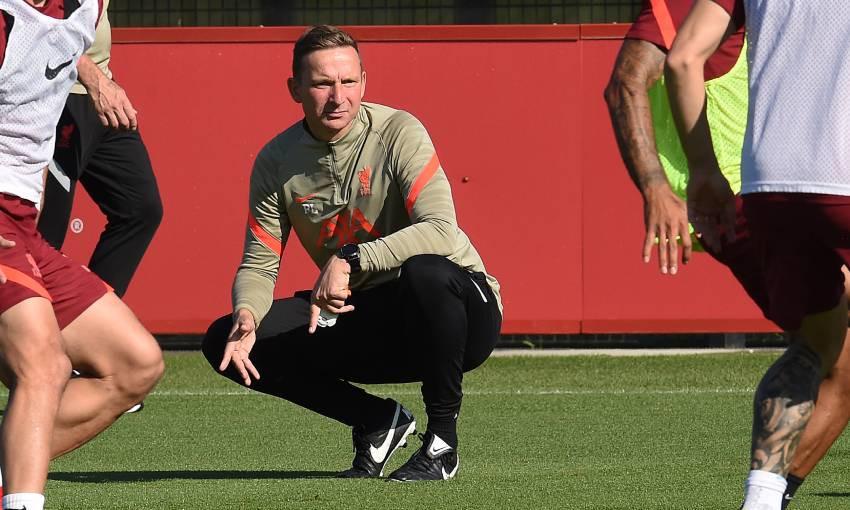 Pep Lijnders of Liverpool FC