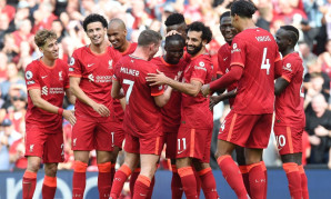 Naby Keita celebrates goal for Liverpool v Crystal Palace