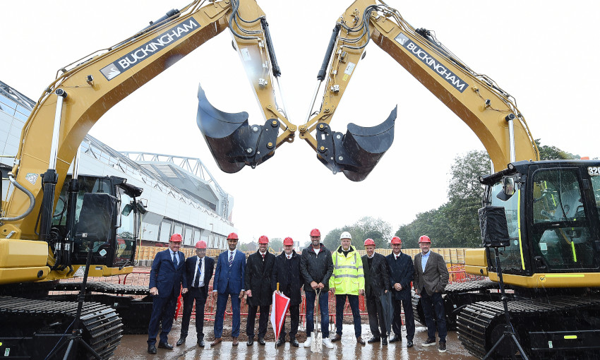Ground-breaking ceremony for Anfield Road Stand expansion