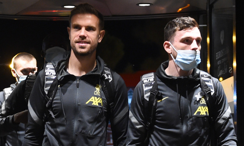 Gallery: Reds arrive in Madrid ahead of Atletico clash