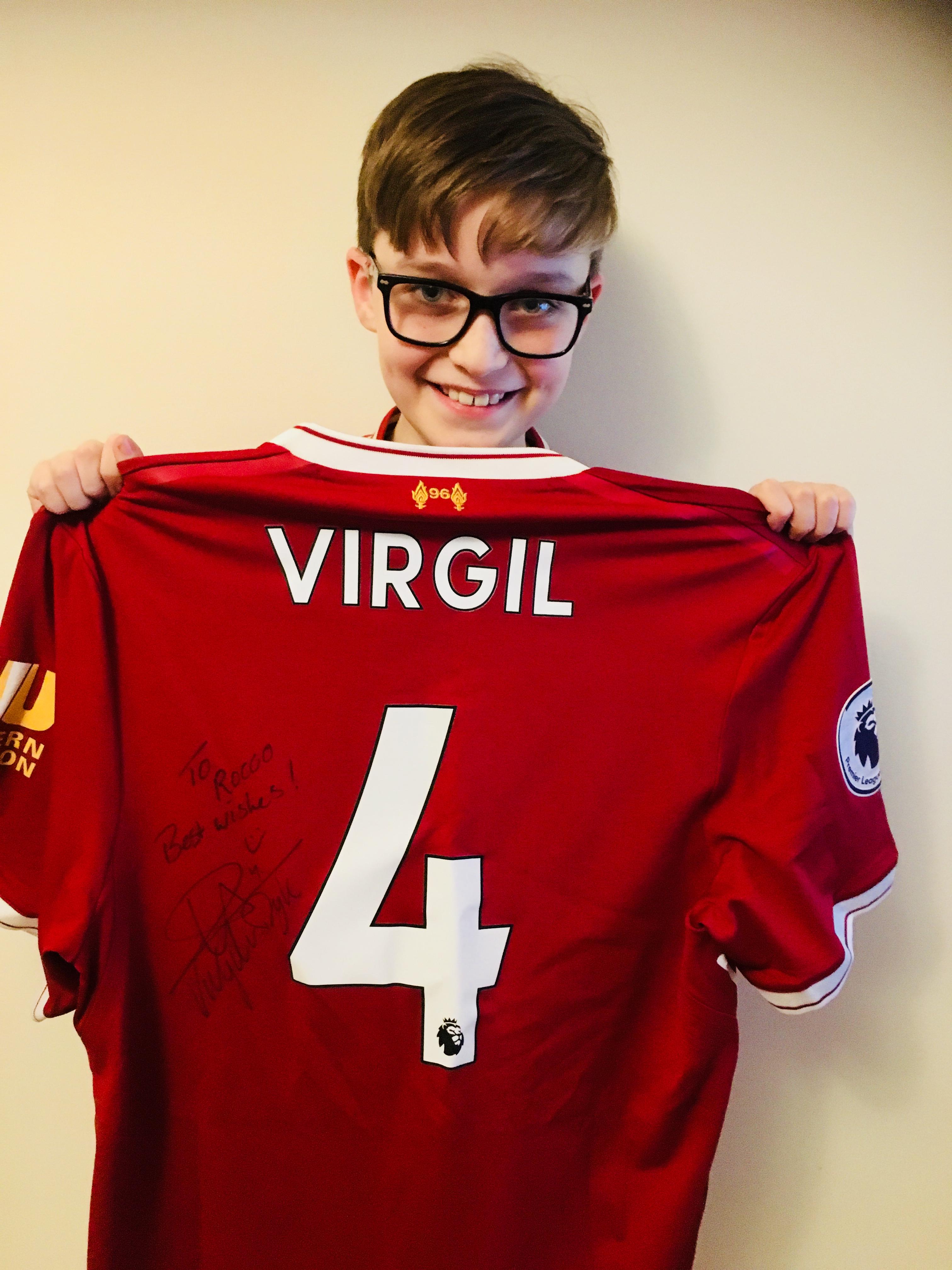 best cheap ae18c 08a5c Young Reds fan left speechless by Virgil van Dijk gesture ...