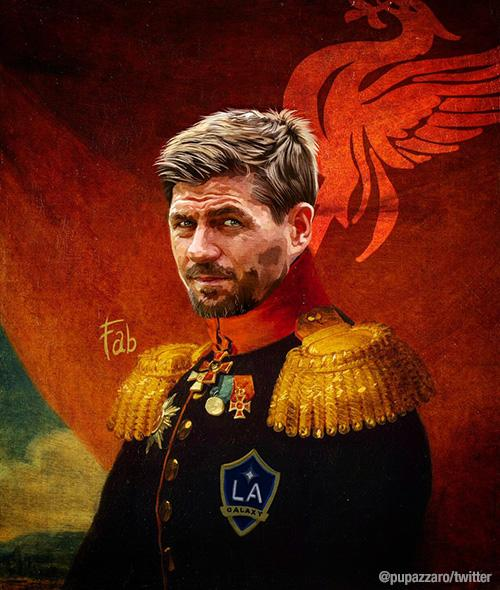 Steven Gerrard as part of Fabrizio Birimbelli's 'Like the Gods' project