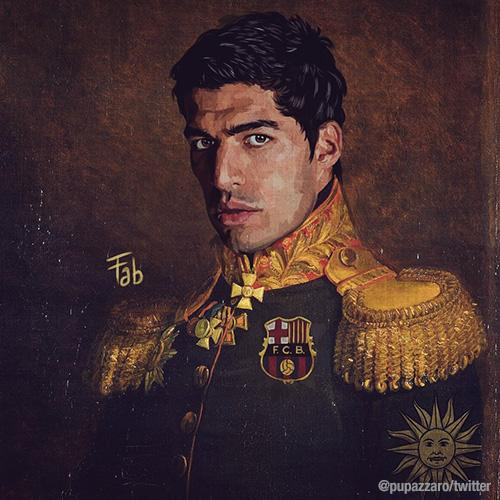 Luis Suarez as part of Fabrizio Birimbelli's 'Like the Gods' project