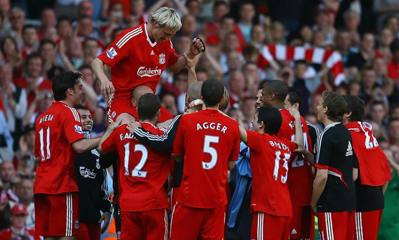 Sami Hyypia bids farewell after playing the last of his 464 games for Liverpool