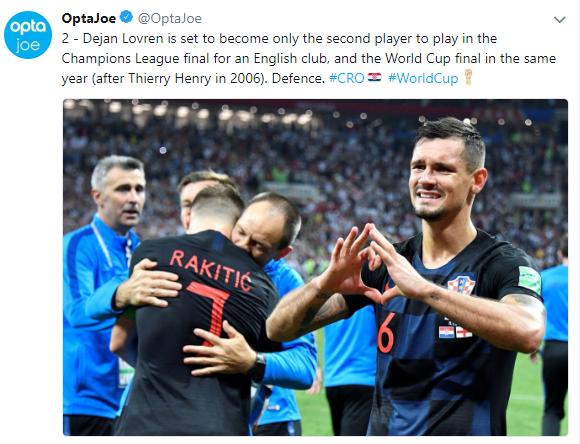 Croatia defender says France 'didn't play football'