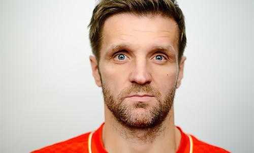 Liverpool midfielder Igor Biscan